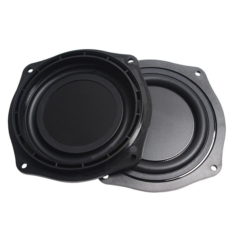 2Pcs/Lot Black 4 INCH 113.6mm Frame Radiator Speaker Film Passive Plate Audio Bass Vibration Diaphragm