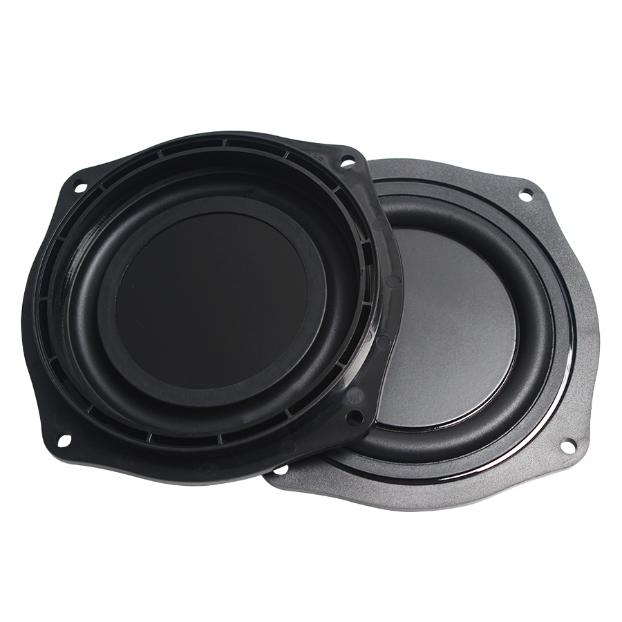 2Pcs/Lot Black 4 INCH 113.6mm Frame Radiator Speaker Film Passive Plate Audio Bass Vibration Diaphragm