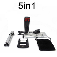 5in1 Universal Clips 12X Zoom Camera Telephoto Lenses 3 In 1 Wide Angle Fish Eye Macro