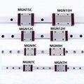 1 шт. линейная направляющая мини MGN7 9 12 15 блок MR7 MR9 MR12 MR15 + 1 шт. H или C каретка 3d принтер Часть
