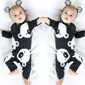 2016 Cute Newborn Baby Boy Girl Romper Clothes Cartoon Bear Long Sleeve Cotton Rompers Playsuit One Pieces Outfit 0-24M