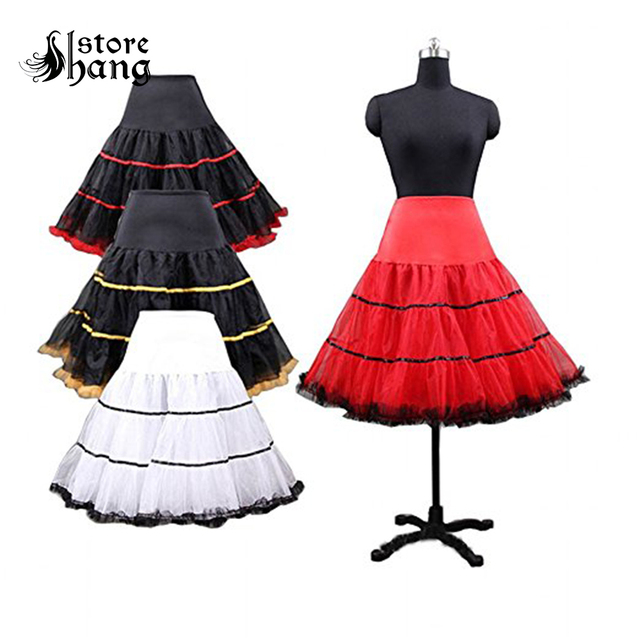 e4ac230169233 Women s 50s Vintage Rockabilly Petticoat Half Slips Short Skirt Retro Rock  N Roll Fancy Tutu Crinoline