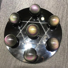 Natural rainbow obsidian seven star array decoration feng shui home gifts