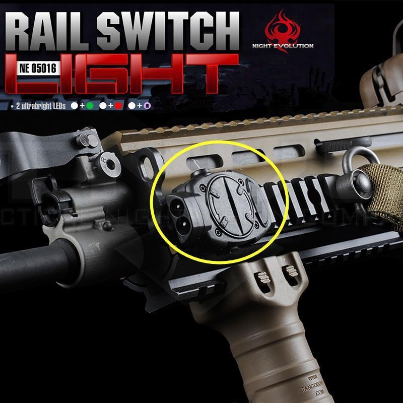 Military Night Evolution Rail Mount Switch Tactical Light/Strobe Red White light  IR Green for 20mm Picatinny Weaver Rail