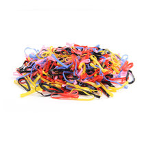Toddler Disposable Elastic Hair Bands Ponytail 500pcs/bag Girls Candy Color Thicken Rubber Band Scrunchies Kid Hair Accessories(China)