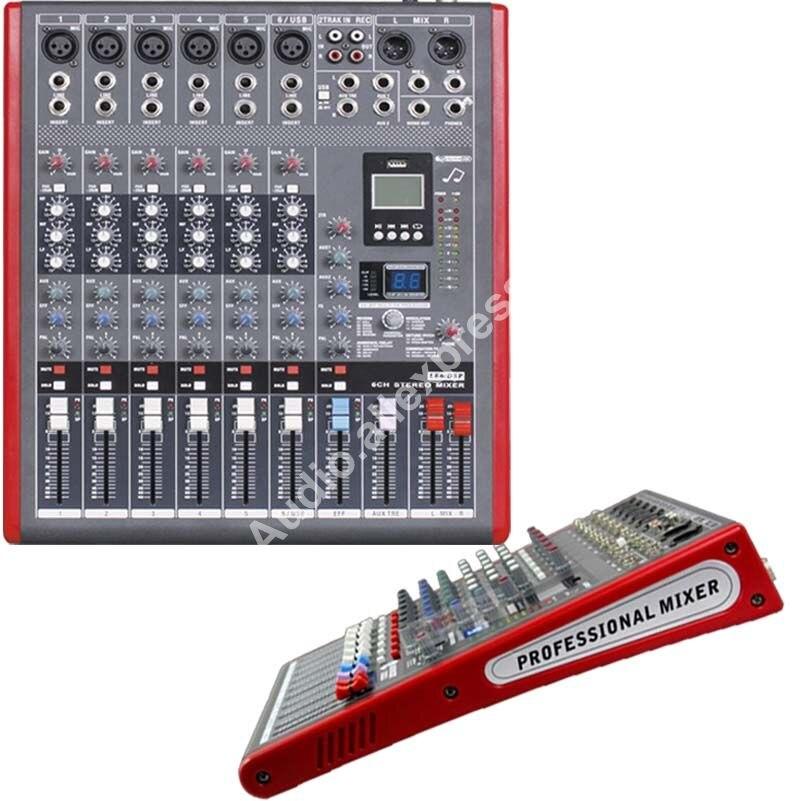 Micwl LE6 Pro 6 стерео канала микрофонный микшер звук микшерный пульт с 99 DSP эффектов MP3 USB 48 В 24 бит Multi FX процессора