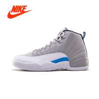 Original New Arrival Authentic NIKE Air Jordan 12 Retro UNC 130690 Mens Basketball Shoes Sneakers Breathable Outdoor