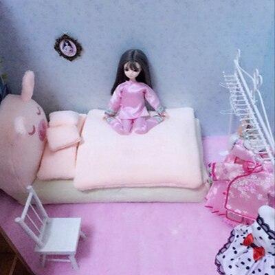 móveis brinquedo kawaii simulação macia mini rosa