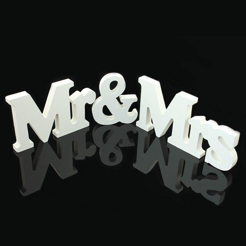 1 компл. одноцветное Mr & Mrs деревянные буквы для Свадебные Украшения знак столешницы настоящее украшение