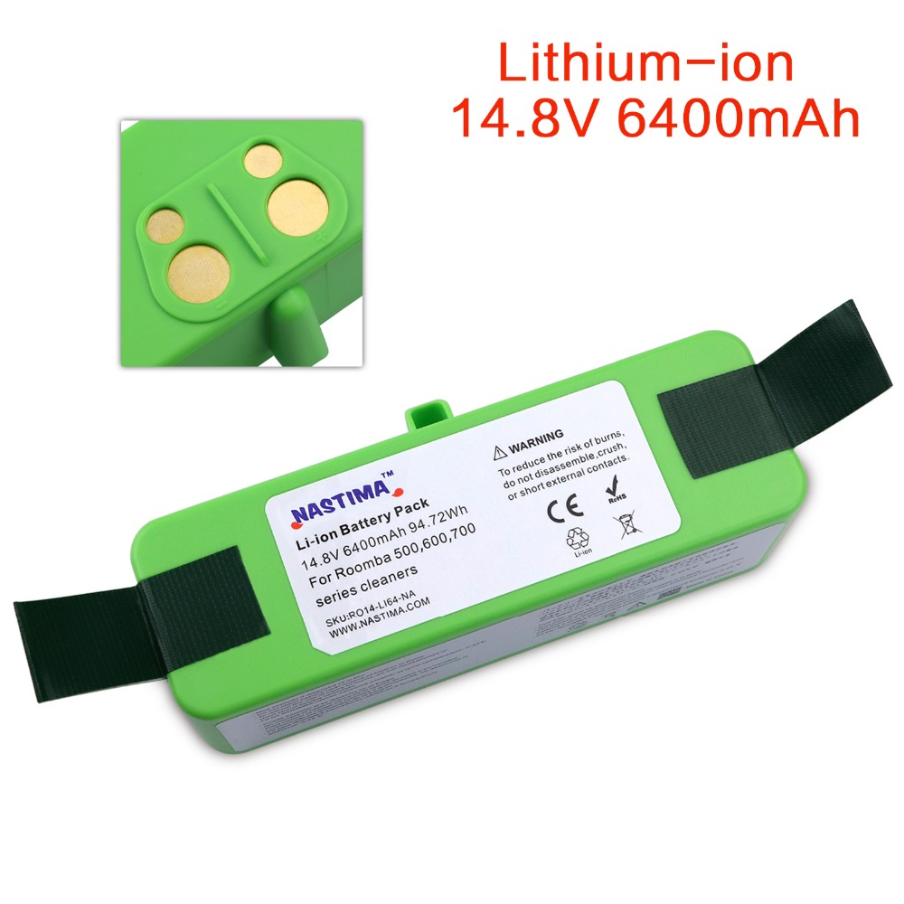 NASTIMA 14 8v 6400mAh Lithium Battery For iRobot Roomba Cleaner 500 600 700 800 980 Series