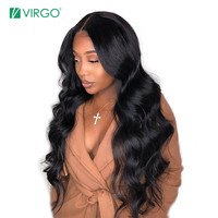 Virgo Body Wave Full Lace Human Hair Wigs For Black Women Brazilian Hair Pre Plucked Remy Hair Human Hair Wig 180% Density