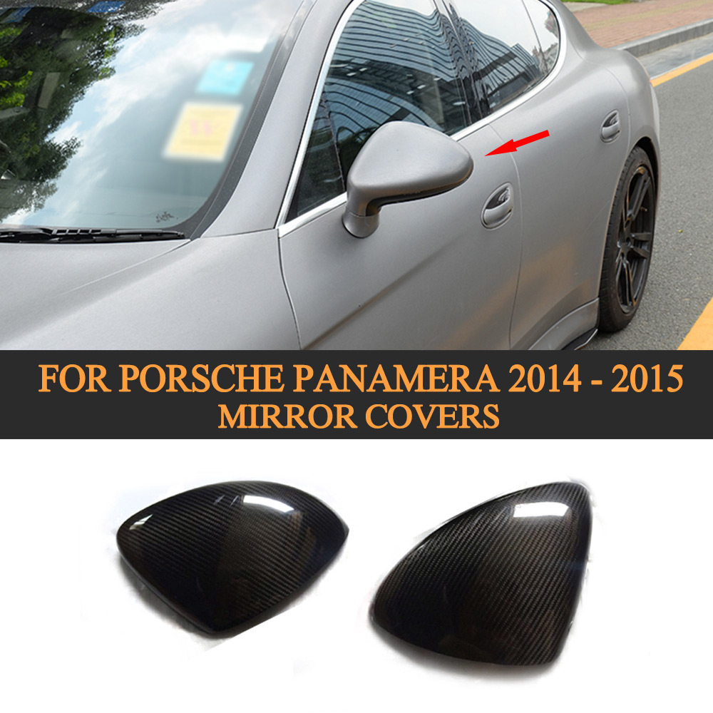 Carbon Fiber Car Side Mirror Cover Trim for Porsche Panamera 2014 2015