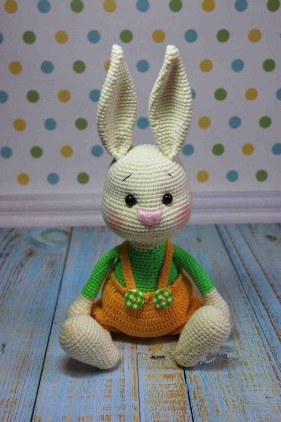 Crochet brinquedos amigurumi lebre número modelo b0148