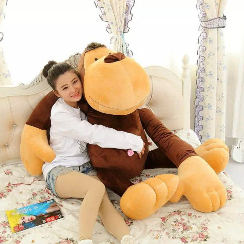 huge 140cm brown monkey plush toy, long arms monkey doll, sleeping pillow surprised proposal ,birthday gift w5240 70cm lovely monkey plush toy cici monkey doll throw pillow birthday gift w6290