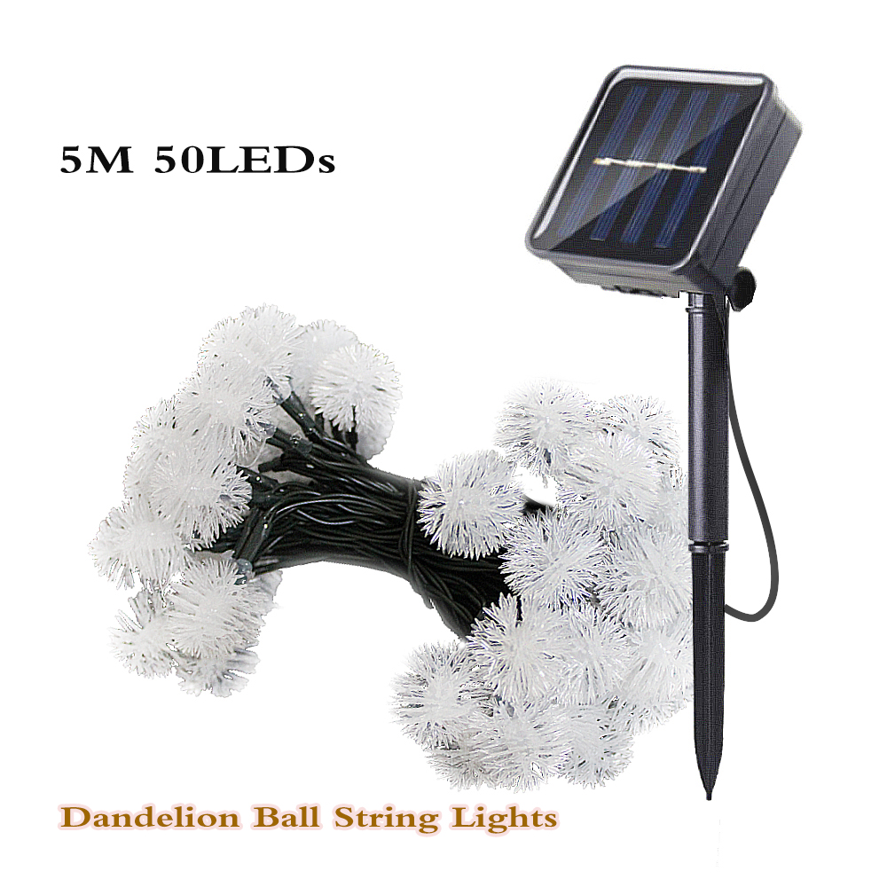 solar lamp led string lights for garden outdoor waterproof decoration garland christmas bulb 5M 50 led fairy lights Holiday Xmas 4m 4m 00 03280 робот художник
