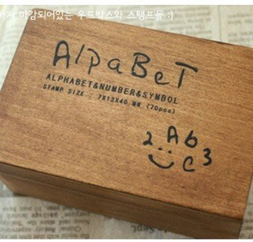 Free Shipping/wood number and letter stamp gift set/mini stamp/Iron Box/multi-purpose Decorative DIY funny work/Wholesale
