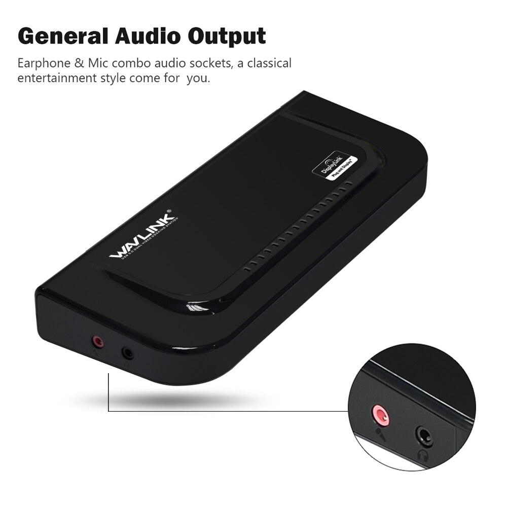 Wavlink USB 3,0 Universal Dual Display Docking Station soporte HDMI/DVI/VGA con 6 puertos USB externo Gigabit Ethernet HD 1080 p - 3