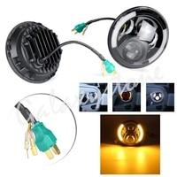 Pair 7 Inch 47.5W 6800K DRL Daytime Running Light Halo Lamp for 97 06 Jeep Wrangler TJ/07 18 Jeep Wrangler JK JKU 2 Door 4 Door
