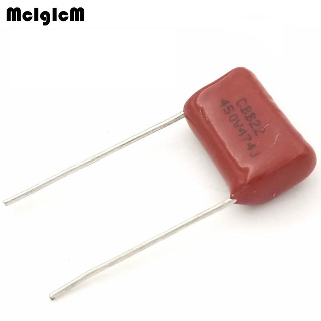 MCIGICM 1000 pcs 470nF 474 450V CBB Polypropylene film capacitor pitch 15mm 474 470nF 450V