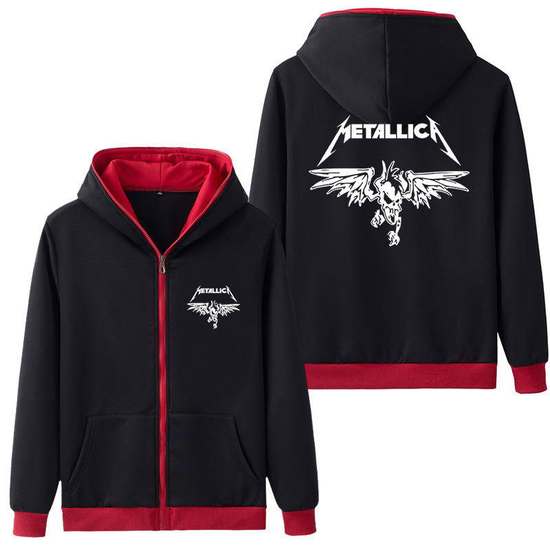 Rock Metallica Hooded Adults Men's Hoodie Zipper Hoodies & Sweatshirts Coat Outer Wear Hoody Five Colors