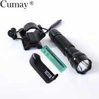Tactical LED linterna antorcha 1 modo XML T6 LED flash luz 18650 linterna tactica Caza 3800lm con magnética x arma montaje
