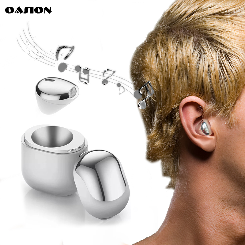 OASION Mini Bluetooth wireless headset in ear Bluetooth earbud invisible bluetooth headset for phone earphone with microphone