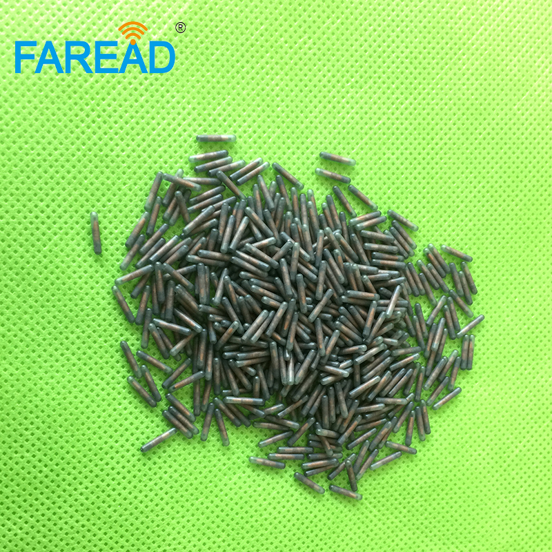 X40pcs High Quality T5577 FDX-A Fecava 125KHz 1.4*8mm RFID Microchip Glass Tags Transponder Injection For Animal Tracking
