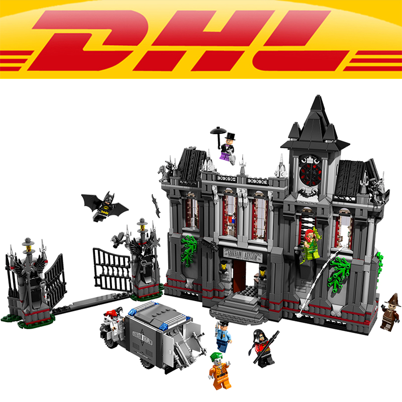 Lepin 07044 1685Pcs  The Batman Asylums Set Children Educational Building Blocks Bricks Toys Gift Compatible With 10937 compatible city lepin 02005 889pcs the volcano exploration base 02005 building blocks policeman educational toys for children