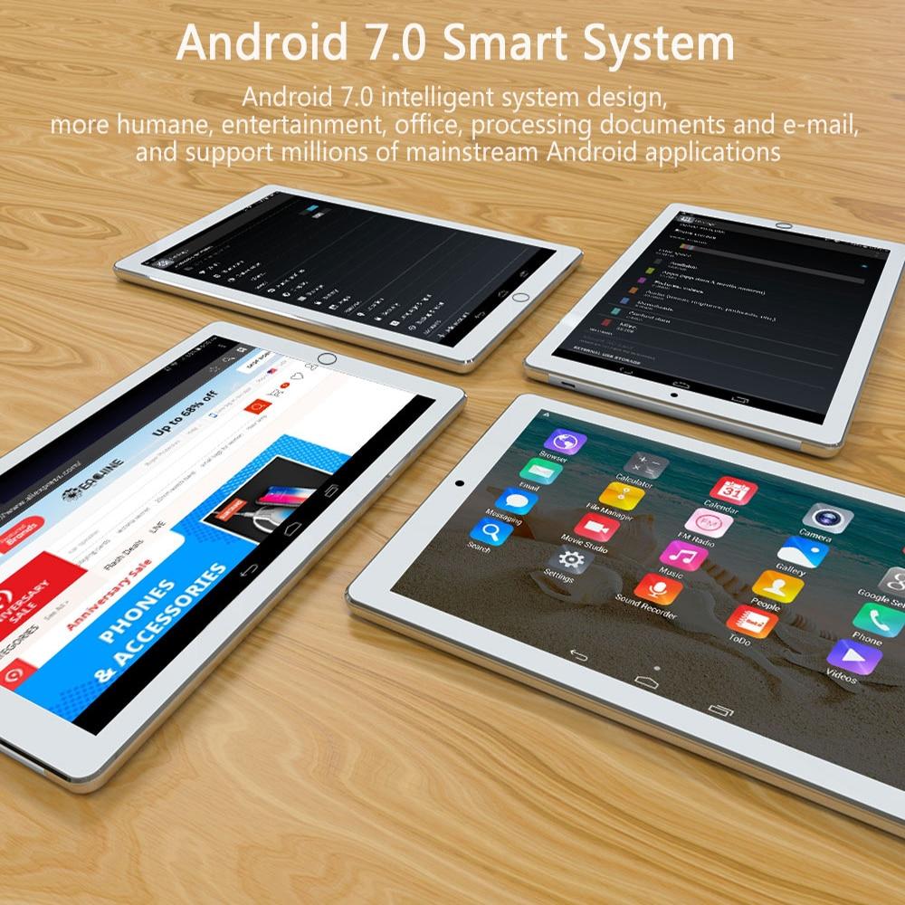 כיריים שניי להבות 10 אינץ Tablet PC אנדרואיד 7.0 אוקטה Core 4 GB RAM 64 GB ROM כפול SIM WiFi FM IPS טלפון GPS לילדים טבליות 4G שיחה + מתנות (4)
