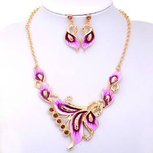 Topkeeping Women Enamel Jewelry Sets Flower Chain