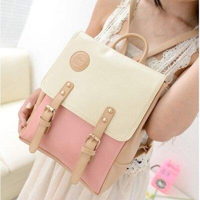 Hot Backpack Women Pu Printing Backpacks Korean Style Fashion School Bags Women Backpack Vintage Ladies Mochila Apb18