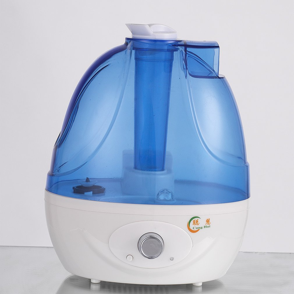 2.5L Water Bottle Shaped Air Humidifier With Night Light Function Negative Ion Double Purification Air Purifier