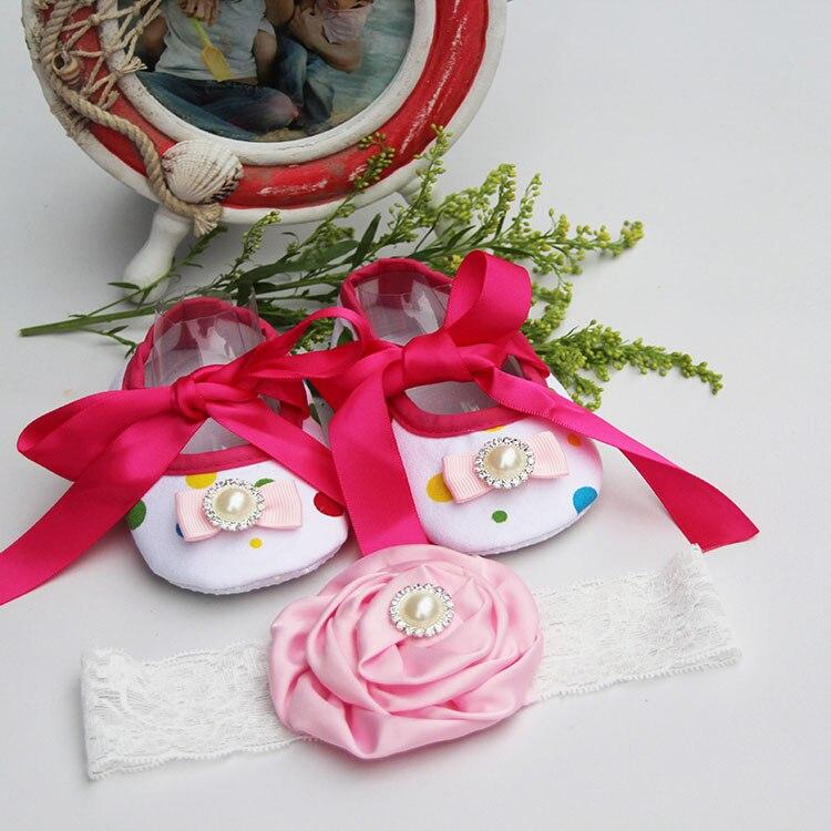 Strasszos újszülött cipő 1 éves lánynak, puha pár baba cipő, csecsemő lány cipő lágy alsó cipő