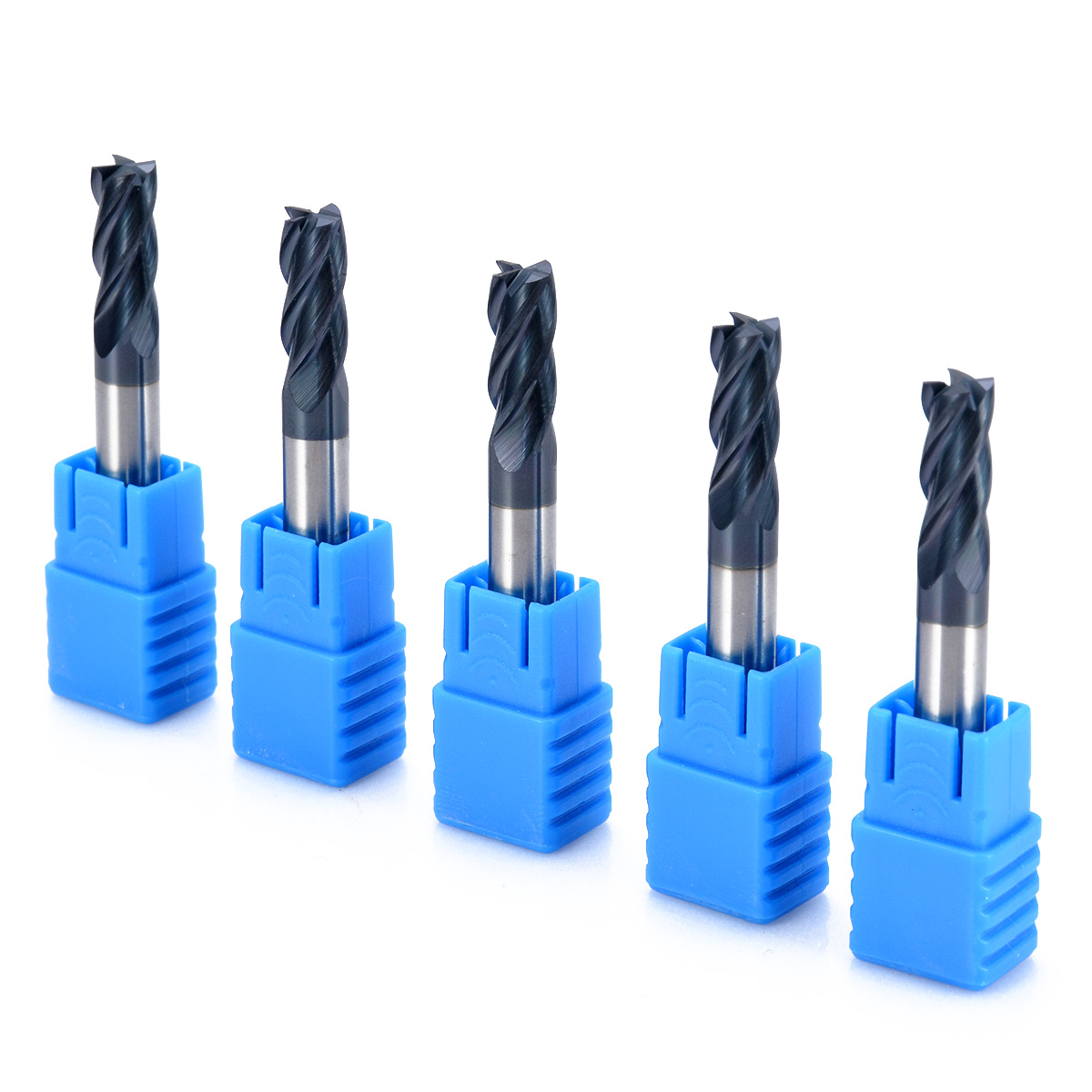 5pcs Tungsten Carbide 4 Flute End Mill High Quality CNC Milling Cutter 6x50mm Mayitr