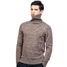 2017 Winter Turtleneck Sweater For Men Knitted Standard Wool Sweater Men Casual Thick Warm Winter Pullover Men Pull Homme