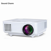 Sound charm HD Projector mini LED digital Video TV LCD Proyector native 800 #215 480 HDMI USB Home Theater Projektor Beamer cheap 640x480dpi Manual Correction Digital Projector 4 3 16 9 1 2kg 800lumens Pico Projector Portable Projector Home Throwing Back Projection Desktop Ceiling