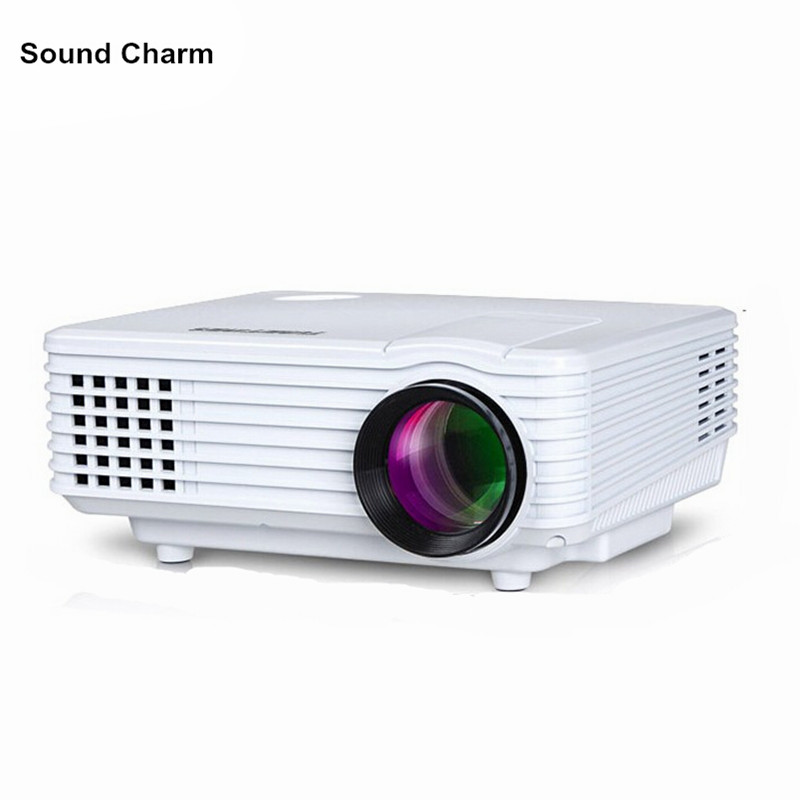 Sound charm HD Projector mini LED digital Video TV LCD Proyector native 800x480 HDMI USB Home Theater Projektor Beamer wzatco tl 80 hdmi usb tv lcd led android wifi home theater video portable projector hd 1080p proyector beamer russian korean