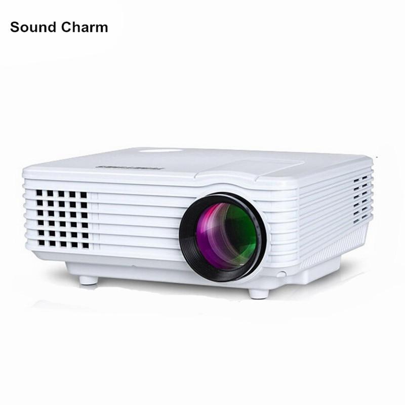 Suono di fascino HD mini Proiettore LED digital Video TV LCD Proyector native 800x480 HDMI USB proiettore Home Theater Projektor Beamer
