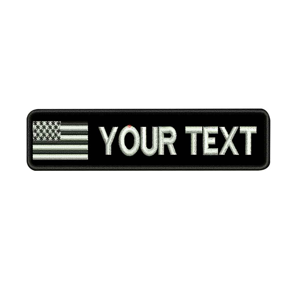 Custom AMERICAN USA name patches tags personalized iron on hook backing in Patches from Home Garden