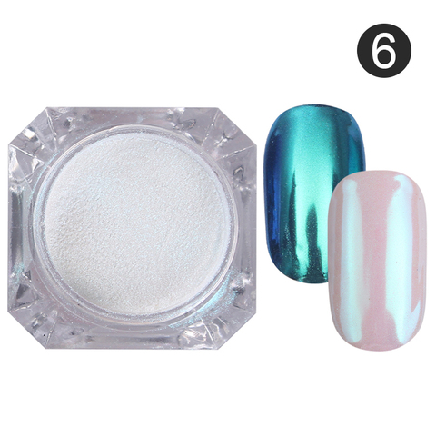 2 Boxes/set Mirror Nail Glitter Powder Blue Purple Color Chrome Pigment Dust Manicure DIY Nail Art Decorations for UV Gel Polish Multan