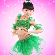 hot deal buy kids clothes 2019 new sleeveless pure color girls clothing sets baby sequined dance top + skirt 3-7 baby girl clothes
