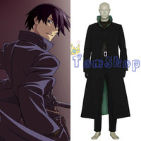 Anime Darker Than Black Hei Cosplay Uniform Suit Whole Set Men Halloween Costumes Custom Size free shipping