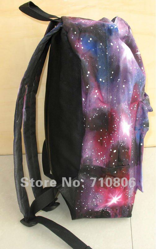 bags hand painted  women/men/Starry sky/The universe/hand painted backpack/starry night backpack/kids/Free Shipping