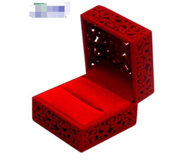 100pcs/lot fedex fast Hollow Engagement Jewery Organizer Box Rings Storage Cute Box Wedding Jewelry Box