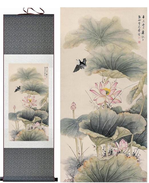Aliexpresscom Buy Lotus Flower And Birds Traditional Chinese Art