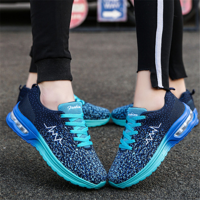 2019 New Air Mesh Running Shoes For Men Sneakers woman Outdoor Breathable Comfortable Athletic Shoes Women Sports Shoes 35-44