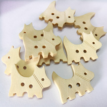 100pcs/lot Lovely 2Hole Wooden Buttons for Scrapbooking Crafts DIY Baby Children Clothing Sewing Accessories Button Decoration hl 18x15mm 50 100pcs mix color fish shank plastic buttons children s garment sewing accessories diy crafts
