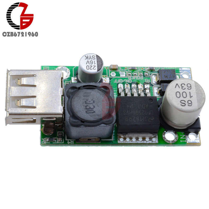 LM2596HV 5 V DC-DC 7-56 V 9 V 12 V 24 V 36 V 48 V à fixe 5 V 3A Module de convertisseur abaisseur Non isolé Module de chargeur USB