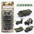 Los niños de coches de juguete, modelo de Simulación de aleación de coche, modelo militar Aleación/tanques de avión, 5/set, regalos de Navidad para los niños.