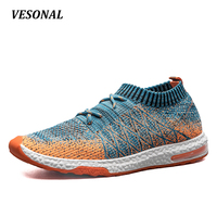 VESONAL Breathable Mesh Summer Men Casual Shoes Slip On Male Fashion Footwear Slipon Walking Unisex Couples